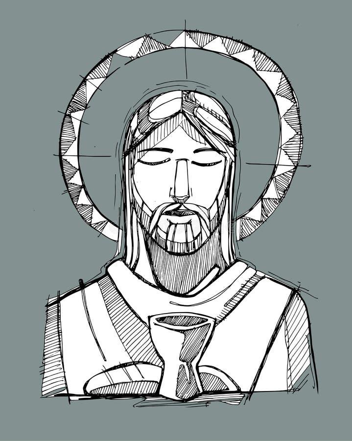 Jesus Eucharist stock illustratie