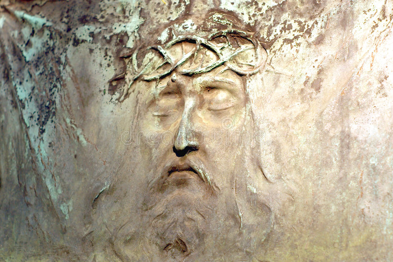Jesus Face From The Tombstone Royalty Free Stock Images