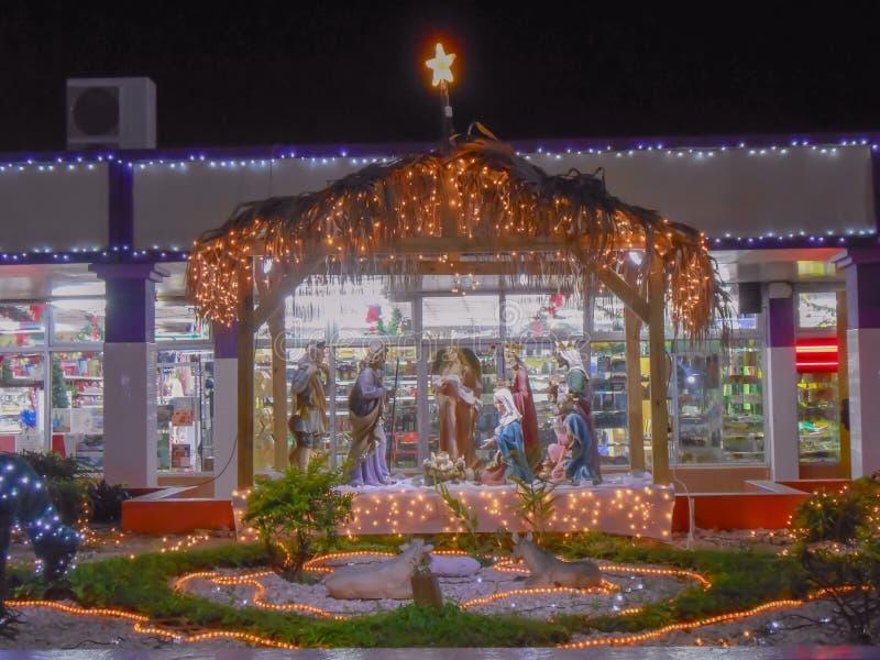 Jesus Family e amigos no Natal imagem de stock