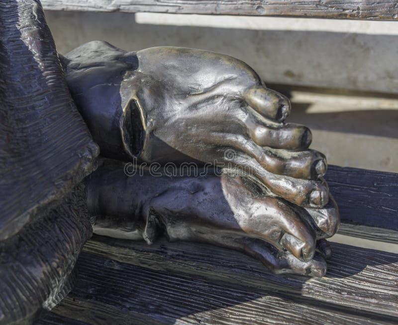 Jesus Feet sin hogar fotografía de archivo libre de regalías