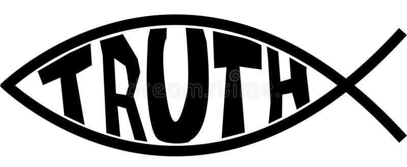 Jesus-Fisch-Wahrheit lizenzfreie stockfotos