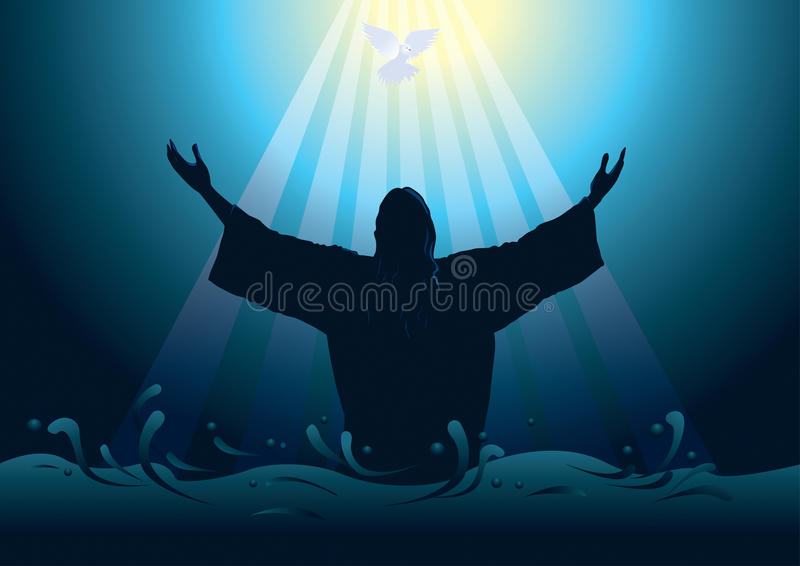 jesus frälsare stock illustrationer