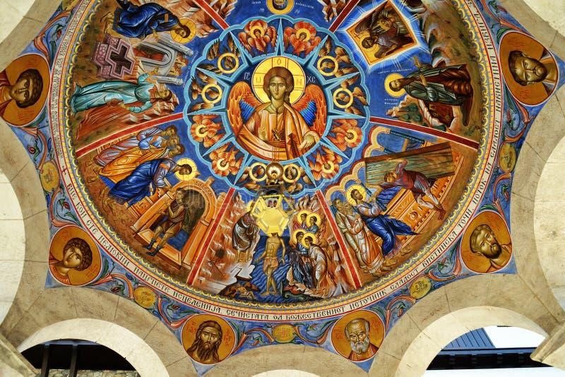 Jesus freskomålning arkivfoton