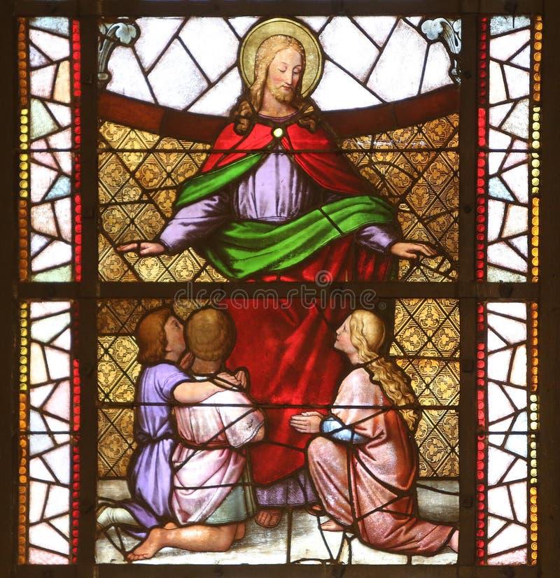 Jesus-Freund von Kindern lizenzfreies stockbild