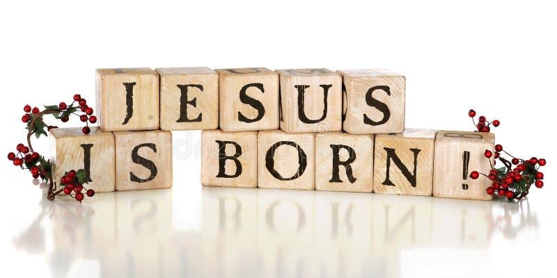 Jesus is Geboren! stock afbeelding