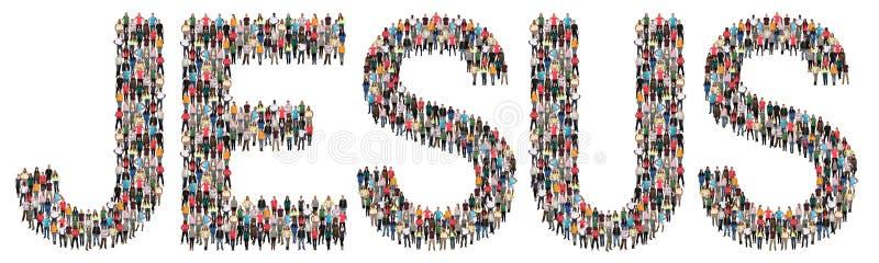Jesus God crede gruppo etnico di speranza della chiesa di religione di credenza il multi immagine stock libera da diritti