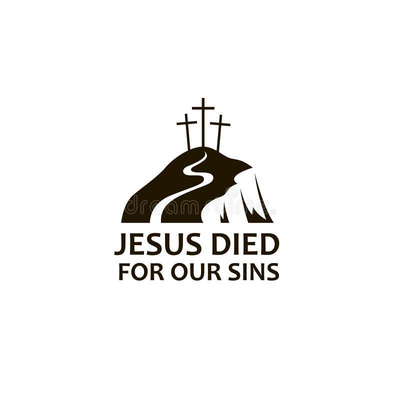 Jesus golgotha icon stock illustration