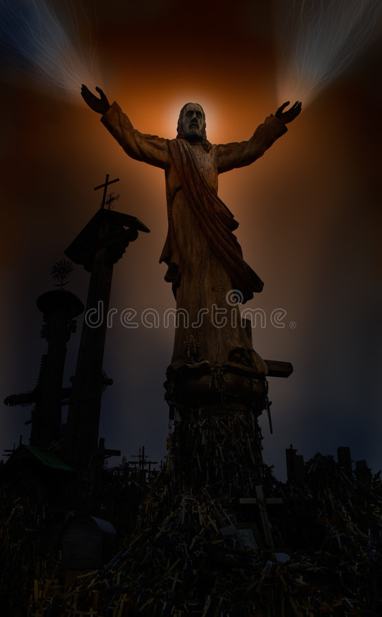 Jesus healing hands royalty free stock photo