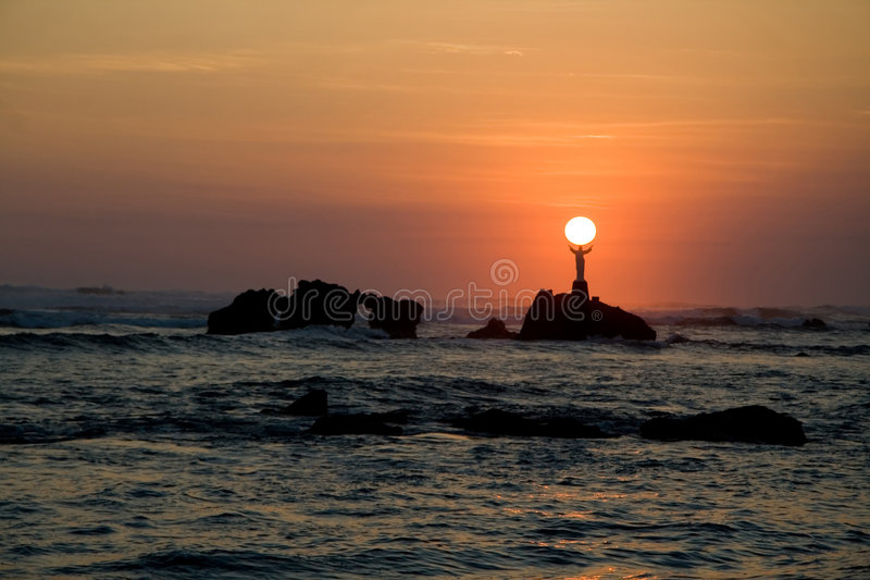Download Jesus holding the sun stock image. Image of love, statue - 2258079