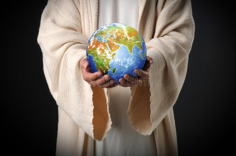 Download Jesus Holding The World In His Hands Stock Image - Image: 9837159