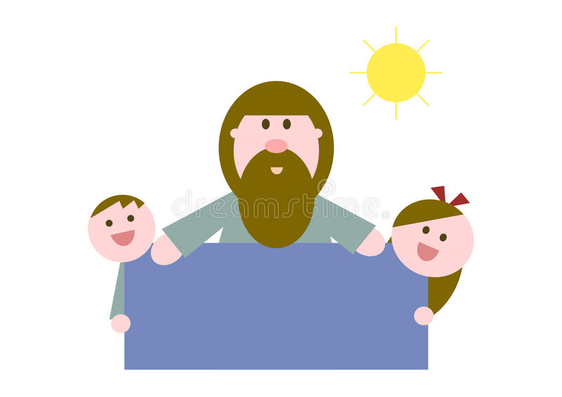 Jesus houdt van jonge geitjes royalty-vrije illustratie