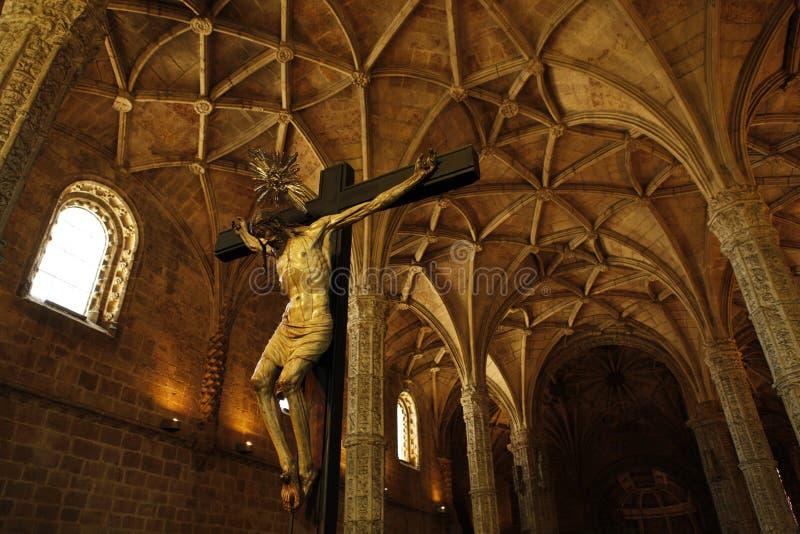 Jesus i den Hieronymites kloster royaltyfri foto