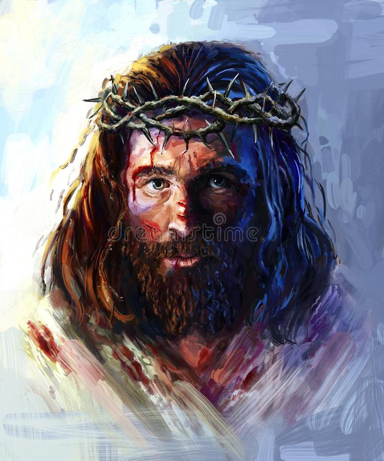Free Jesus In The Crown Of Thorns Stock Images - 132404704