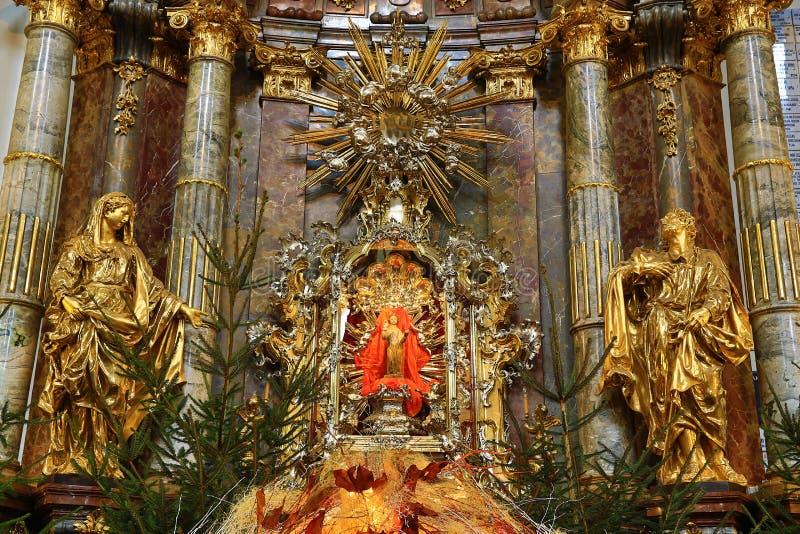 Jesus infantil de Praga (Checo: Tko do ¡ de Jezulà do ské do ¾ de PraÅ;) fotos de stock royalty free