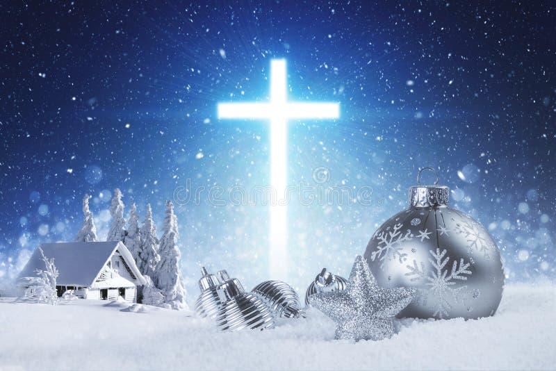 Jesus ist der Grund während der Jahreszeit lizenzfreie stockbilder