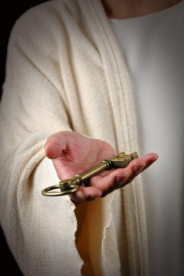 jesus key erbjuda arkivbild