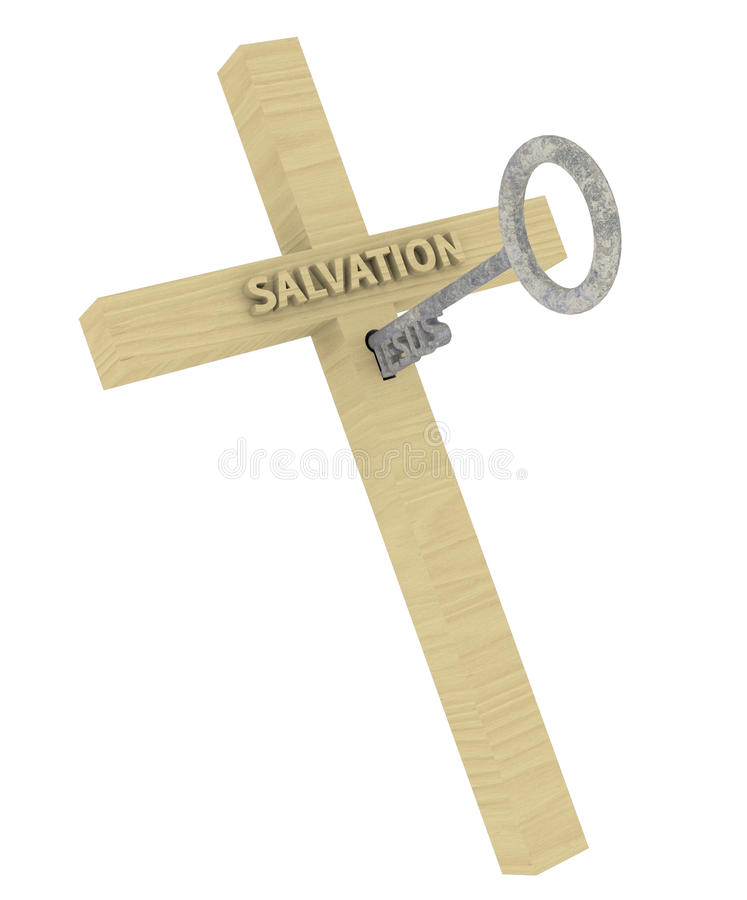 Jesus Key To Salvation Illustration royaltyfri illustrationer