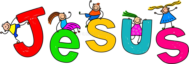 Jesus Kids stock de ilustración