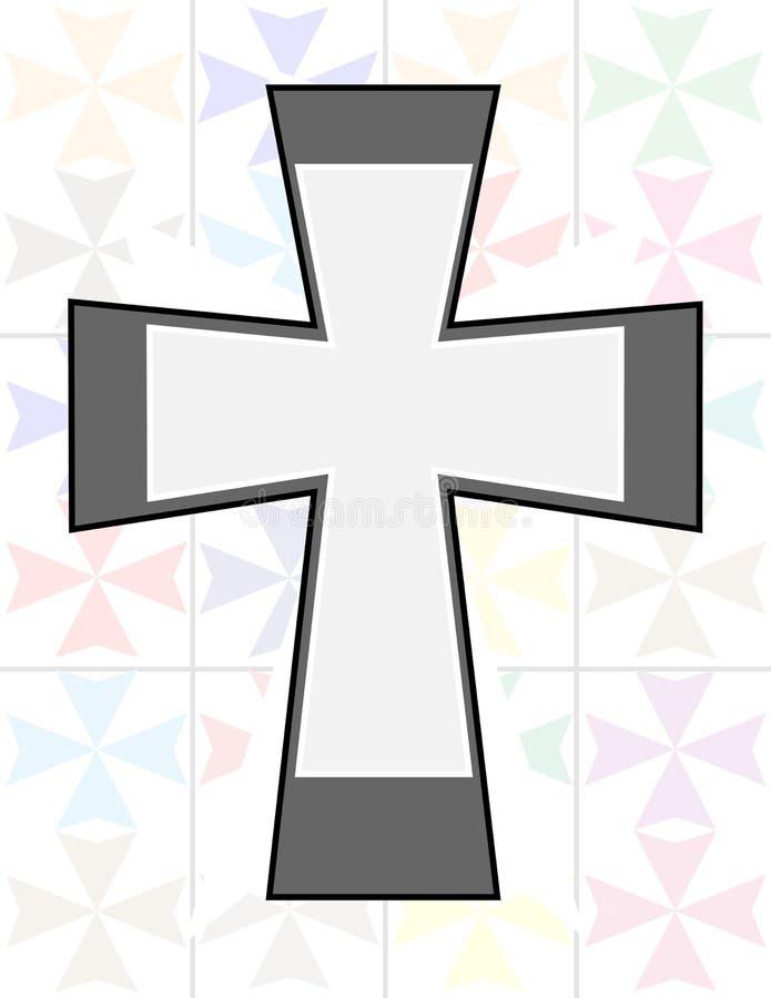 Jesus-Kreuz Der Farbe In Des Ton-zwei Auf Der Transparenz Cristal ...