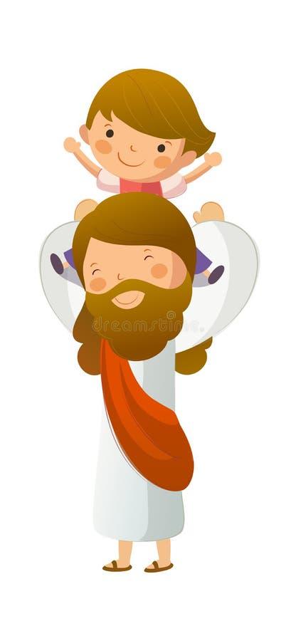 Jesus Kristus royaltyfri illustrationer