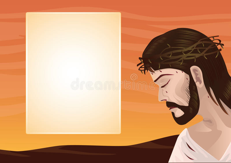 Jesus Kristus royaltyfri illustrationer