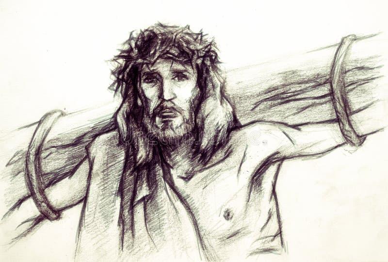 Jesus Kristus av Nazareth royaltyfri illustrationer