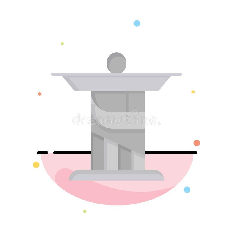 Jesus Kristus, monument, för färgsymbol för gränsmärke abstrakt plan mall vektor illustrationer
