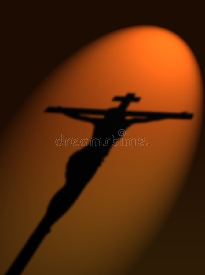 Jesus kruisigde stock illustratie