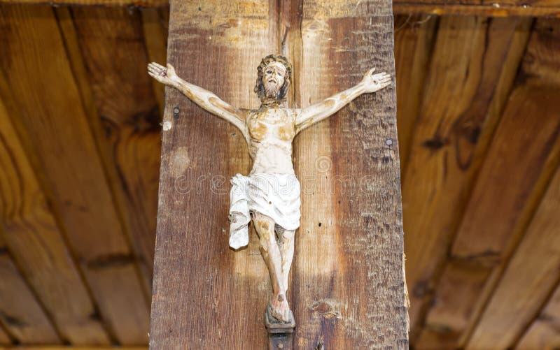 Jesus kruisigde royalty-vrije stock afbeeldingen