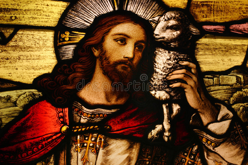 Download Jesus with Lamb stock photo. Image of christianity, cathedral - 6830992