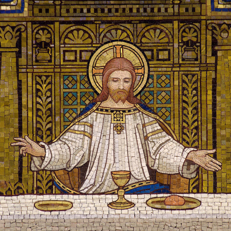 Jesus during the Last Supper royalty free stock images