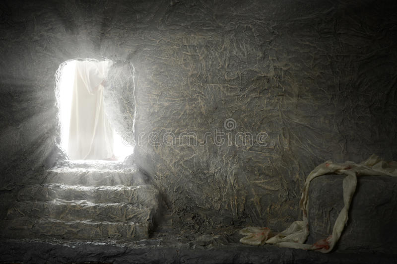 Jesus Leaving Empty Tomb image libre de droits