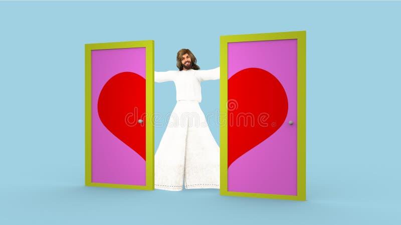 Jesus Love Your Neighbor As você mesmo ilustração royalty free