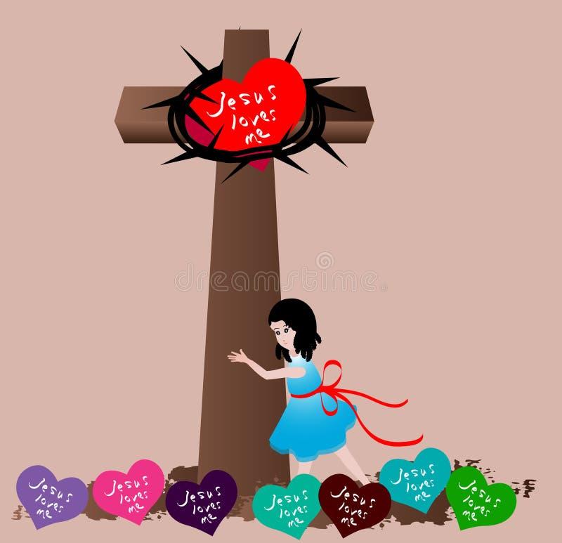 Jesus Loves Me vector illustration