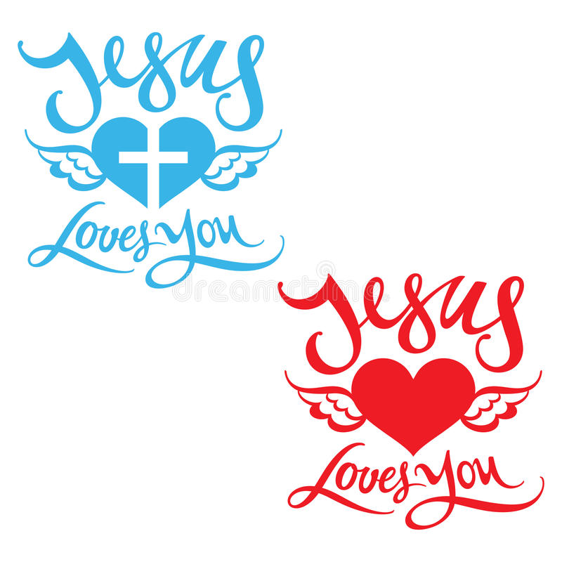 Jesus Loves You vector illustratie