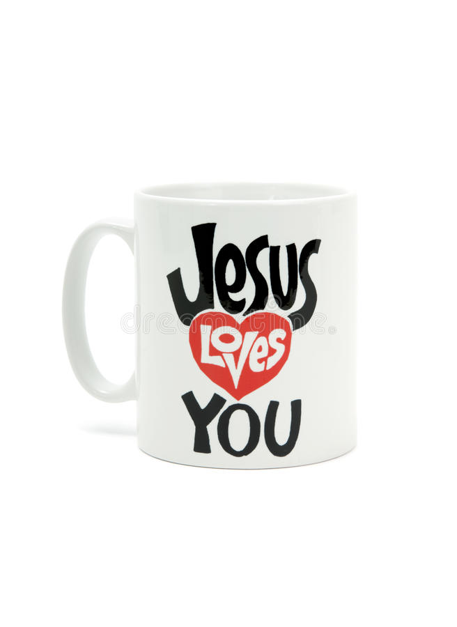 Download Jesus loves you stock photo. Image of ceramics, drink - 9950038
