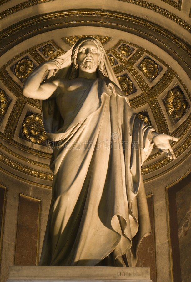 Download Jesus In Madeleine Church In Paris Stock Photo - Image: 5464748
