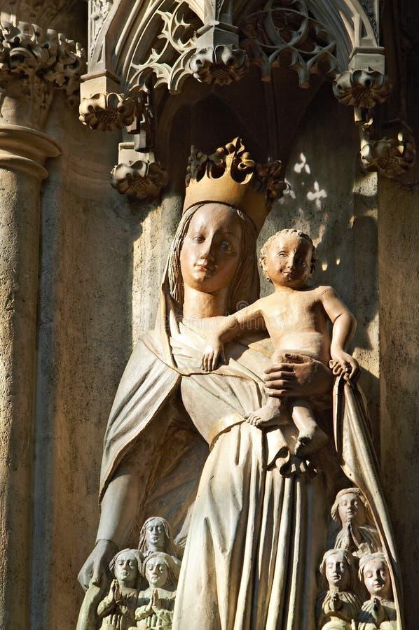 jesus madonna royaltyfri bild