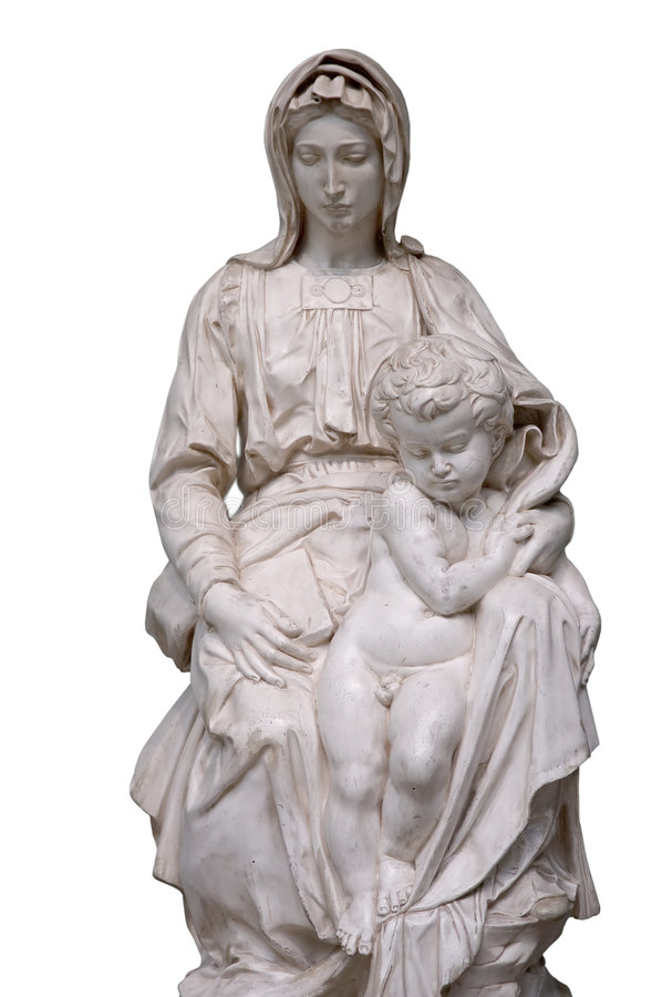 Jesus and Mary statues stock image