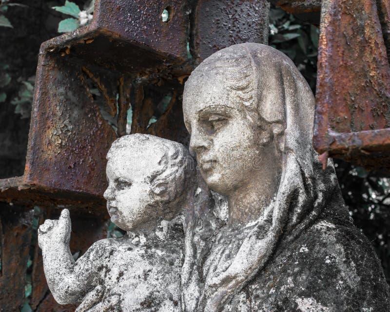 jesus mary staty arkivfoton