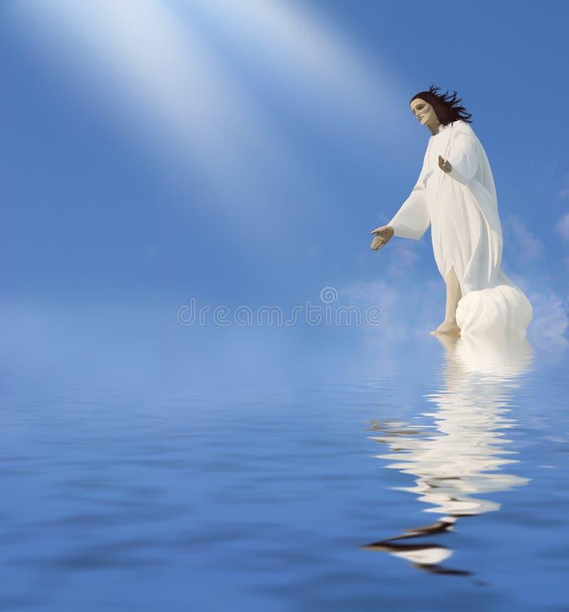 Jesus - milagre ilustração stock