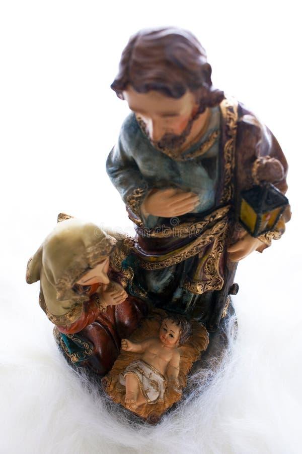 Jesus mit Joseph und Mary stockbild