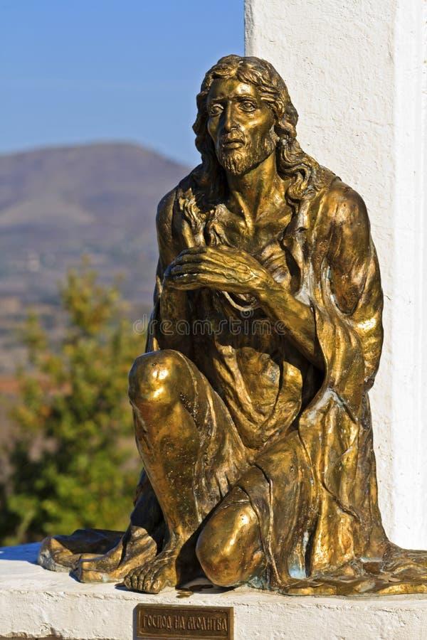 jesus modlitwa obraz royalty free