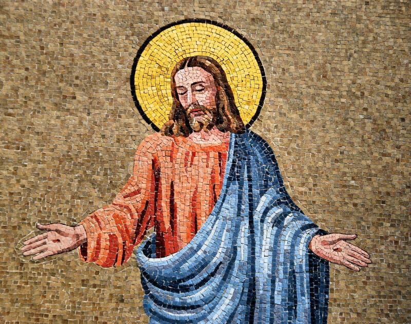 jesus mosaik royaltyfria foton