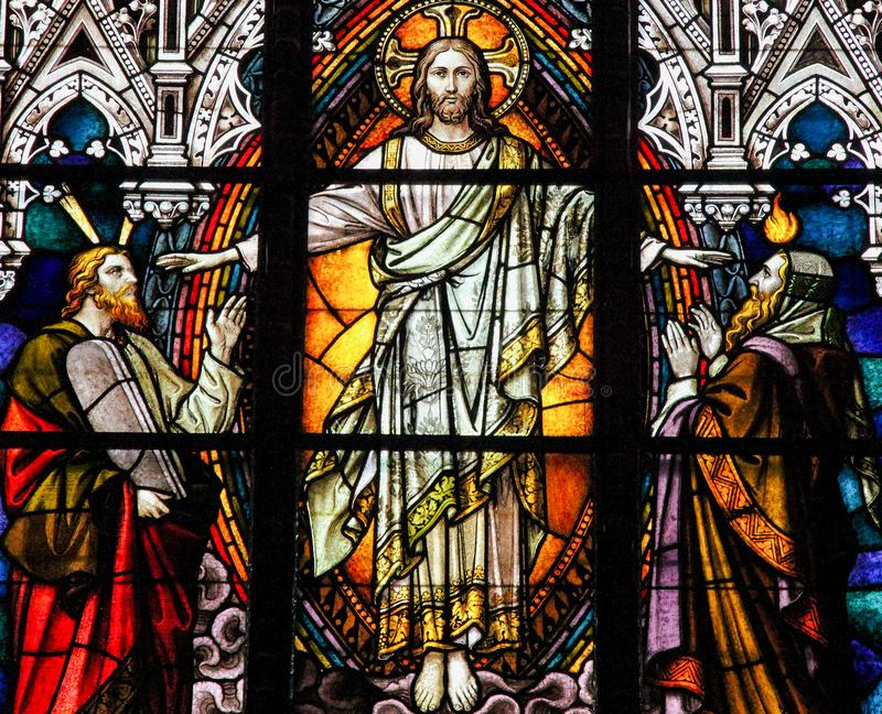 Jesus, Mozes en Isaiah stock foto