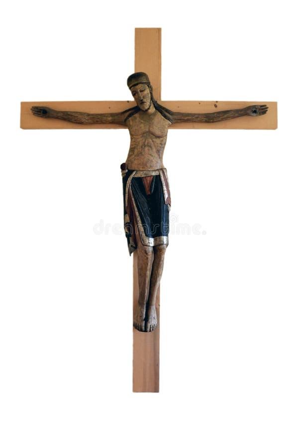 Jesus na cruz fotografia de stock