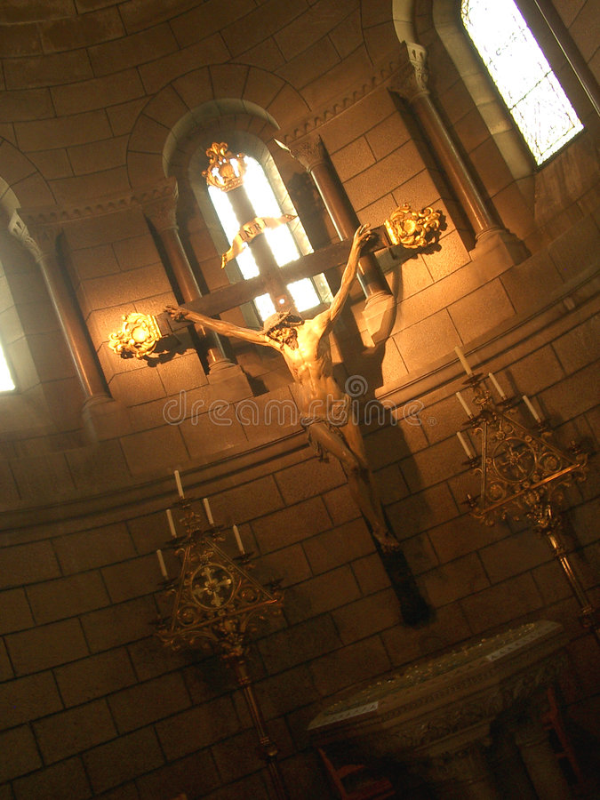 Jesus na cruz foto de stock royalty free