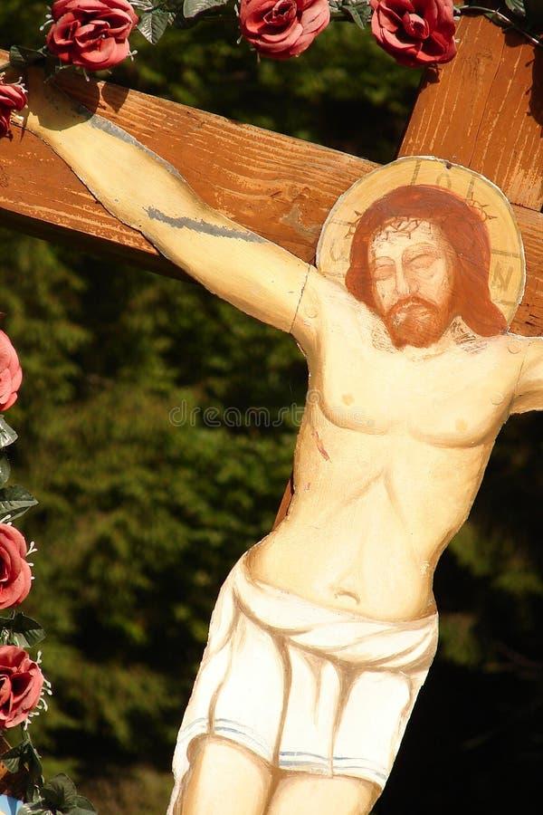 Jesus na cruz, crucificação fotografia de stock