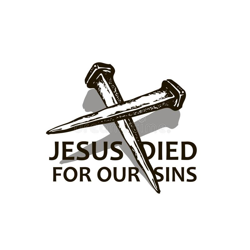 Jesus nails icon stock illustration