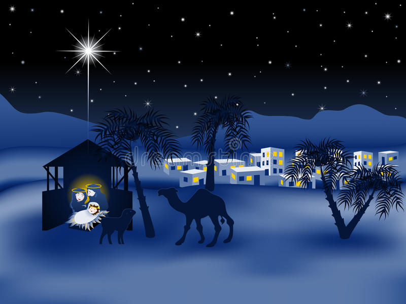 Jesus nativity story eps8 royalty free stock photography